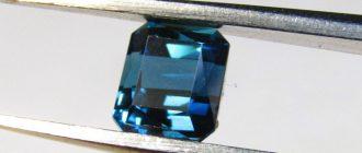 Синий турмалин - индиголит